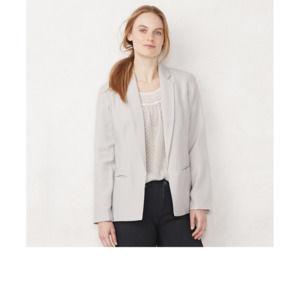 NWT Lauren Conrad Petite XL Slate Gray Blazer